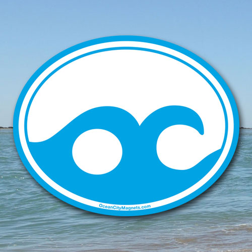 Ocean City Wave – Blue  (Sticker)