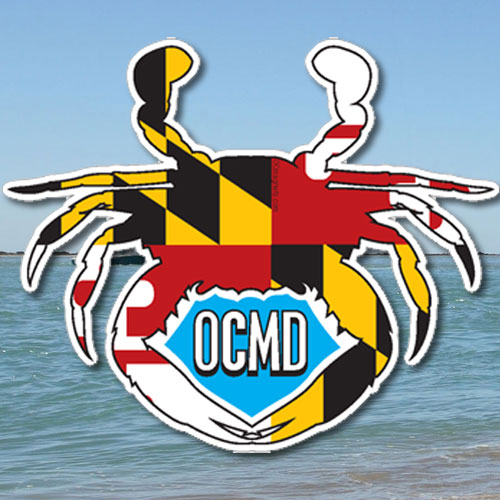 Maryland crab die cut sticker