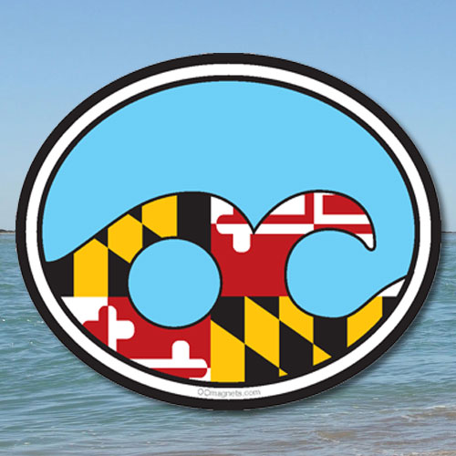 Ocean City Wave – Maryland Flag (Magnet)