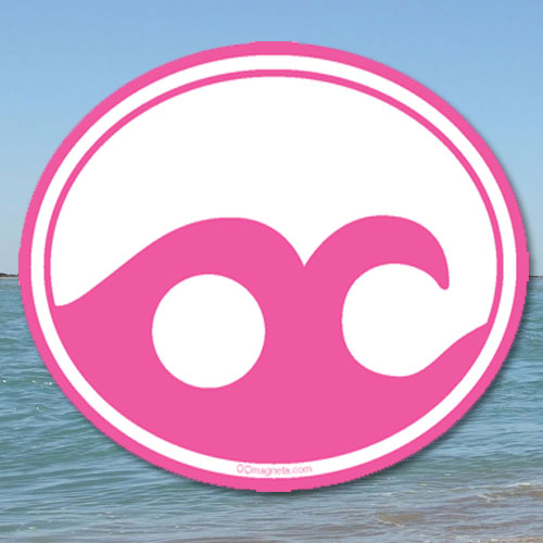 Ocean City Wave – Pink (Magnet)