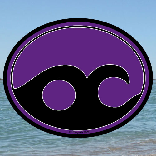 Ocean City Wave – Purple (Magnet)