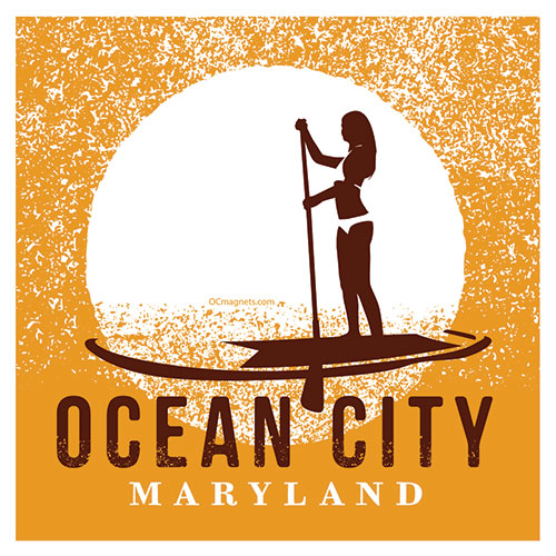Ocean City Paddleboard (Magnet)