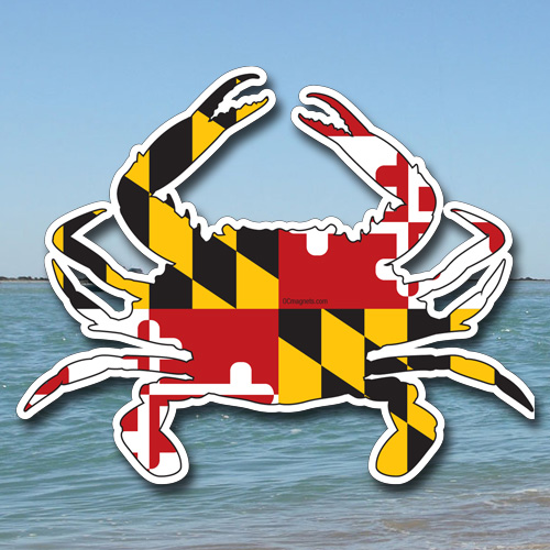Md flag crab sticker