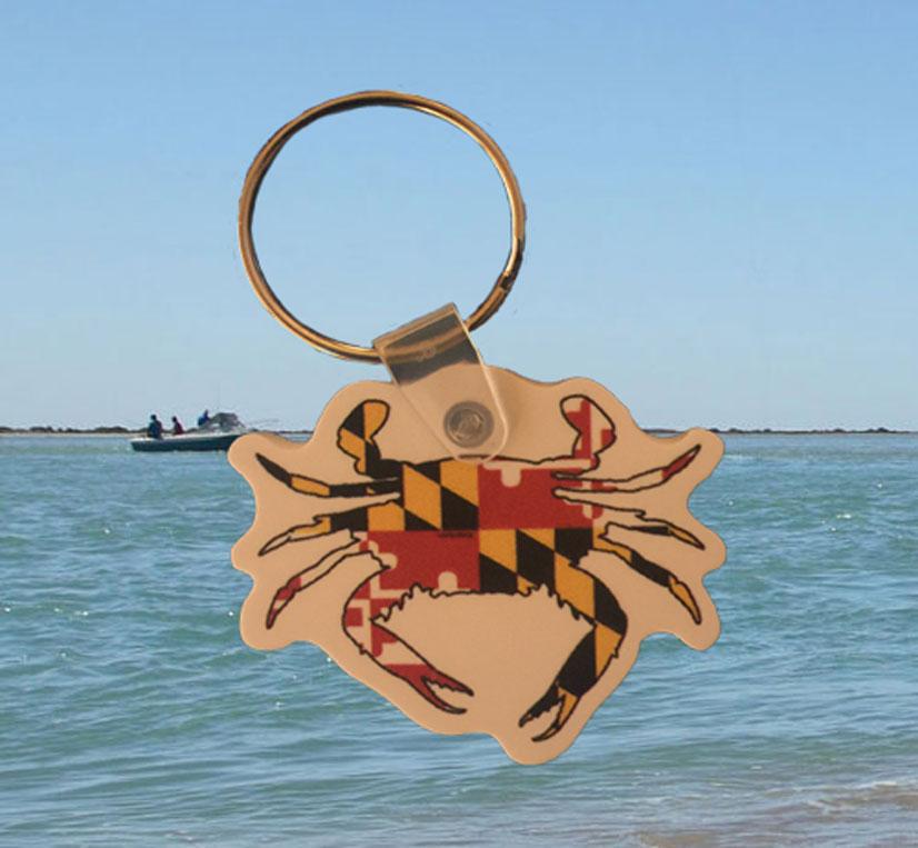 Maryland Flag Crab Lanyard